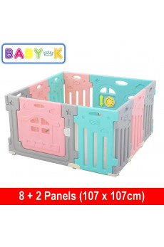BABY-K Airplane Safety Play Yard 8+2 Panels